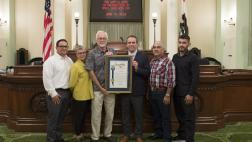 Assemblymember Levine recognizes The Wattle Guys at the state capitol as small business of the year