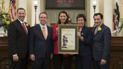 Assemblymember Levine Honors Lucia Martel-Dow - Woman of the year for Assembly District 10